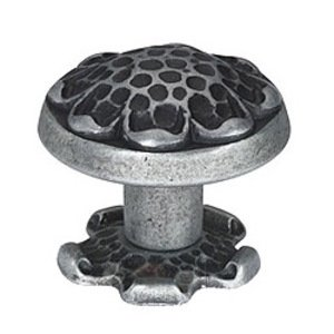 Siro Cabinet Hardware Evangeline Antique Iron Small Hammered Knob 34mm