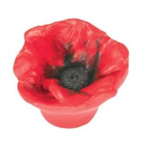 Siro Cabinet Hardware - Flower Collection - Red Poppy Knob
