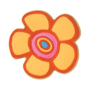 Siro Cabinet Hardware - Popsicle 44mm Rubber Flex Flower Knob in Yellow/Orange/Pink/Blue