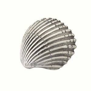Siro Designs - Ocean Line - Antique Pewter Scallop Shell Pull