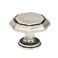 Siro Designs - Nuevo Classico - Antique Silver Large Octagon Knob 38mm