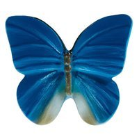 Siro Designs - Butterfly - Blue with Gray Butterfly Knob