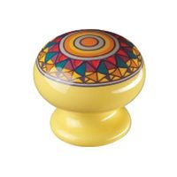 Siro Designs - Botanico - Knob in Yellow Mandela Design