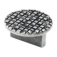 "Siro Designs - Mosaic - Round Pull 1 1/4"" (32mm) Centers in Antique Pewter"