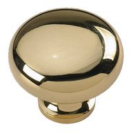 "Siro Designs - Penny Savers - Bright Brass 1 1/4"" Knob"